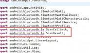 小白问题: 蓝牙4.0例子import处报错错