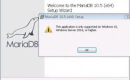 mariadb-10.5.4-winx64.msi 不支持Windows 7 安装
