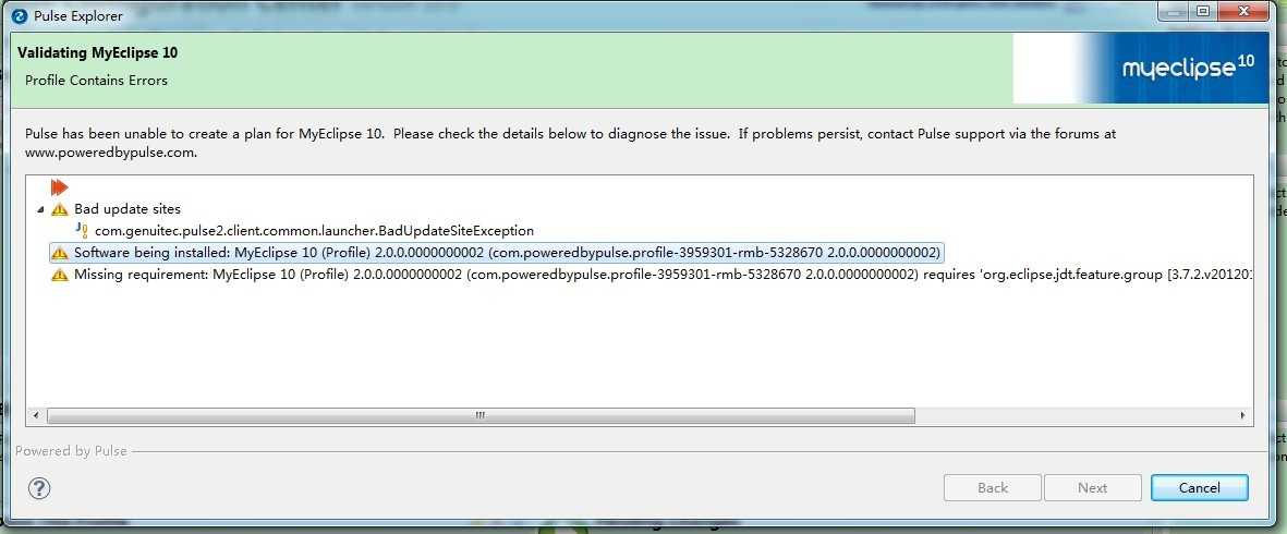 myeclipse10安装JBPM插件时出现问题