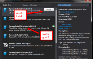 nuget 安装Sqlite $(BuildTaskAssembly) 计算结果无效
