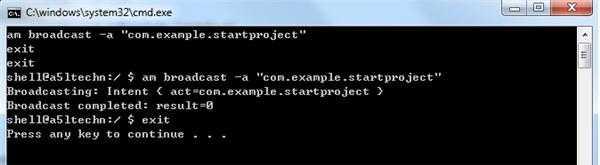 adb shell发送的广播命令在android的程序里收不到