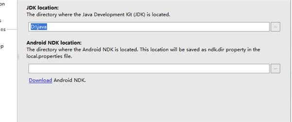 Android studio无法设置 jdk location