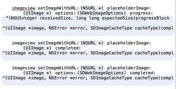 讨教使用过SDWebImage的关于图片下载后回调方法的问题