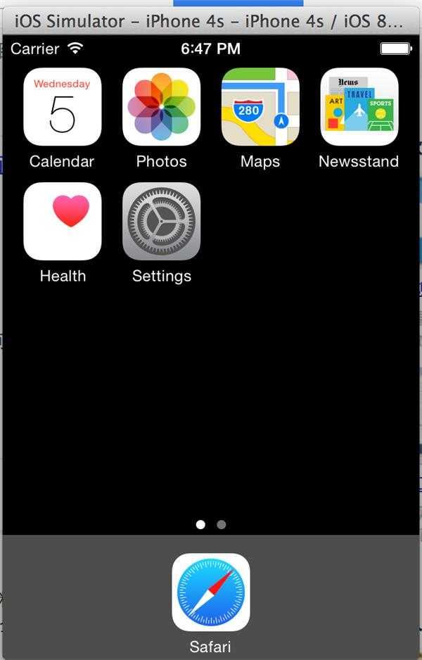 iOS 模拟器无法显示完整 -help