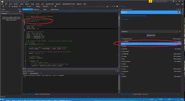 关于OpenCV的Python库cv2, 在Python Tool for Visual Studio无法实现