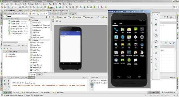 Android Studio 项目apk部署不到模拟器上