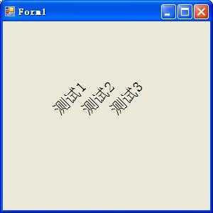 """怎么写才能写的字向上斜后,全部画的字 测试1 , 测试2 , 测试3的""""测""""在一个水平线上"""