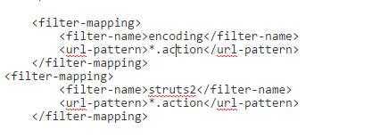 为何本人用jetty+spring+mybatis+struts的框架搭的一个项目访问不了action