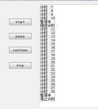 C#线程启动、暂停、恢复、停止怎么实现