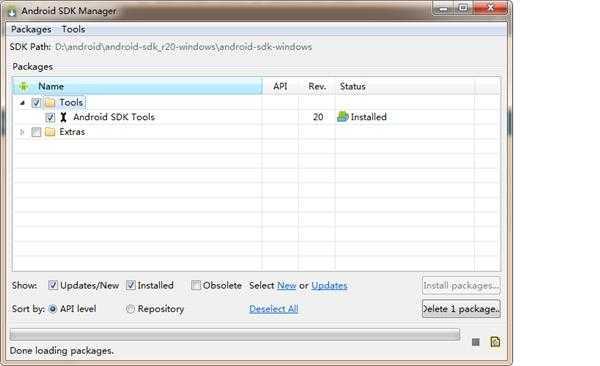 安装安卓sdk的时候下载安装包不全