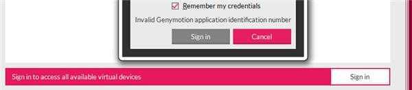 Genymotion登录账号登录不了,如图