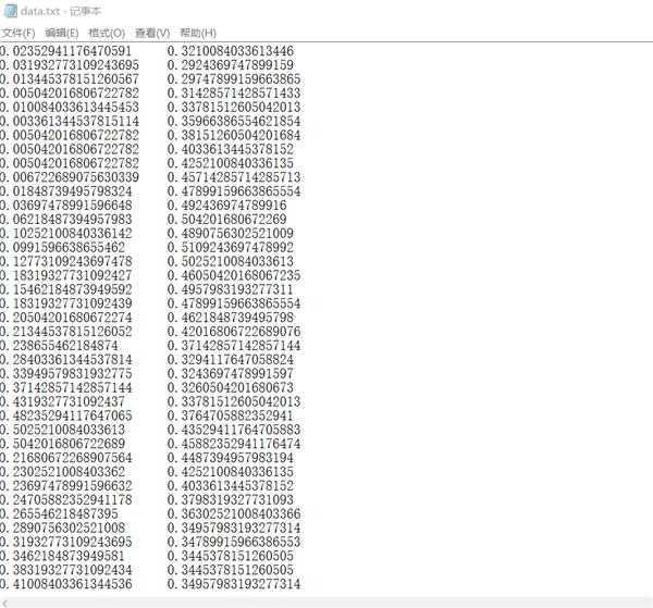 怎么样读取txt数据保存到2个一维数组当中